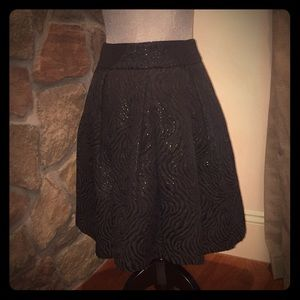 NY&Co pleated black metallic accent skirt